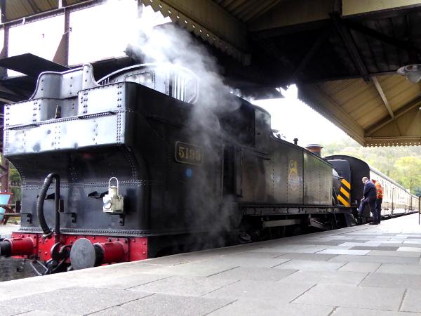 alte Dampflok Bahnhof Llangollen Wales