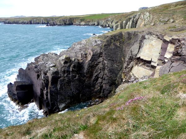 klippen costal path st davids wales