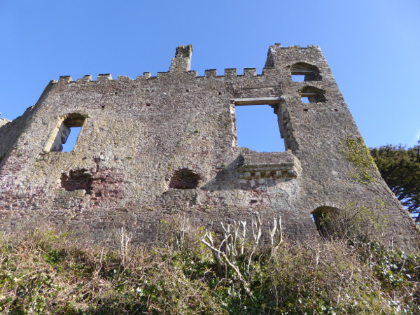 laugharne Castle ruine in Wales