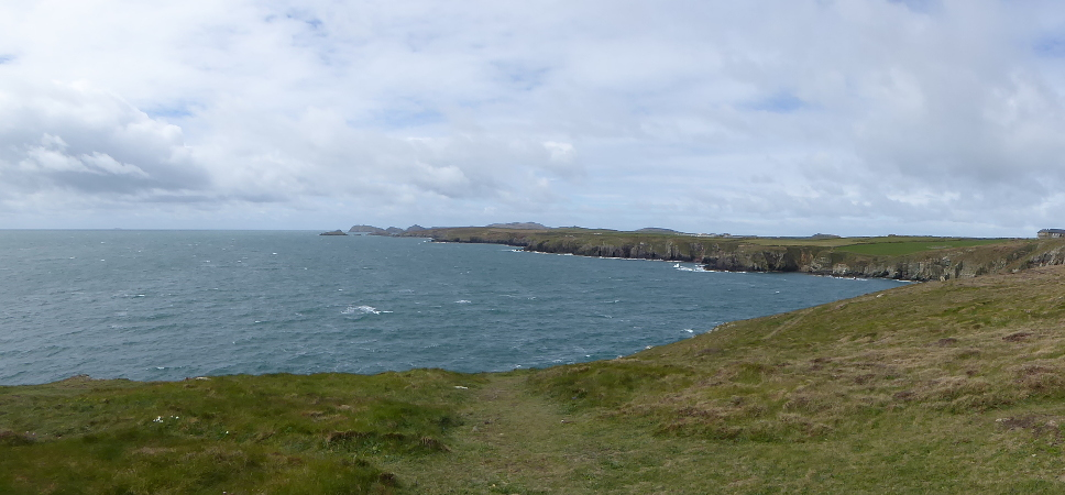 panorama costal path st davids wales