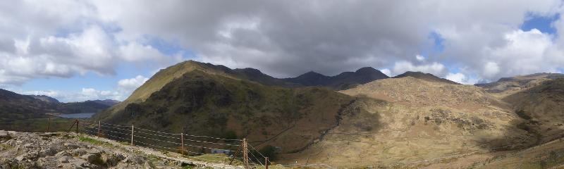panorama mount snowdon snowdonia Wales