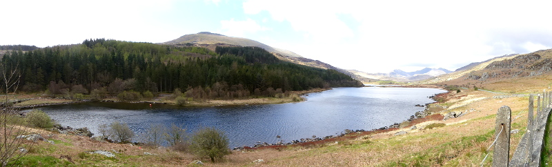 panorama snowdonia Wales bala lake