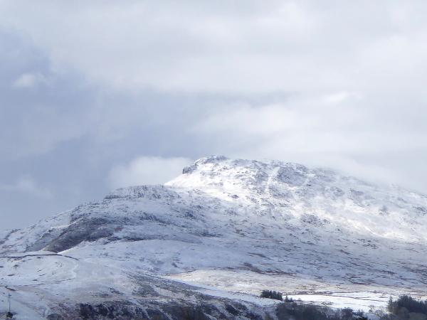 snowdonia Wales schnee