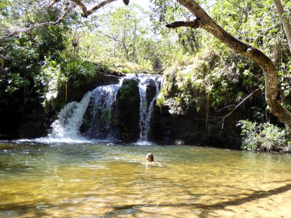 wasserfall parque chapada das guimaraes mato grosso Brasilien