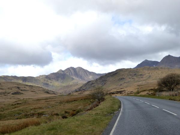 weg durch den snowdonia Wales