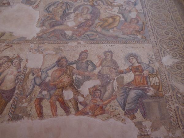 Apollo Musikalischer Wettstreit Mosaik Kato Paphos Zypern