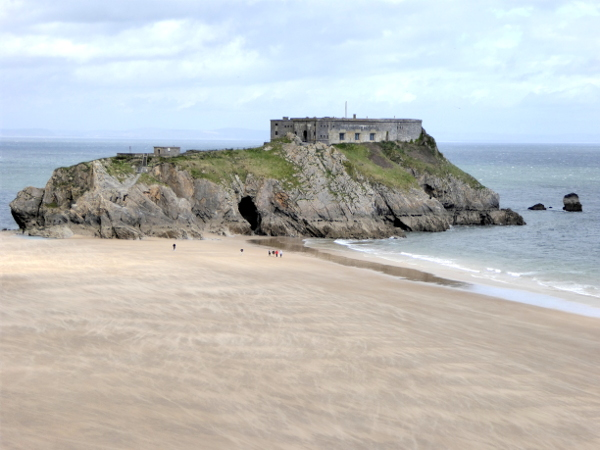 Insel Tenby Pembrokeshire Wales Strand