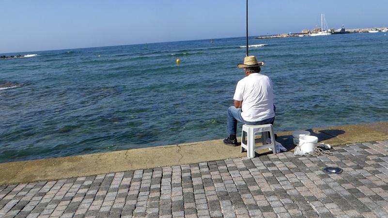 Kato Paphos Hafen Zypern Angler