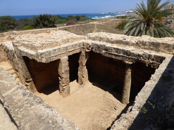 Kato Paphos Königsgräber von Nea Zypern am Meer
