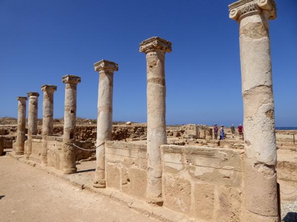 Kato Paphos Zypern säulen archeological Park