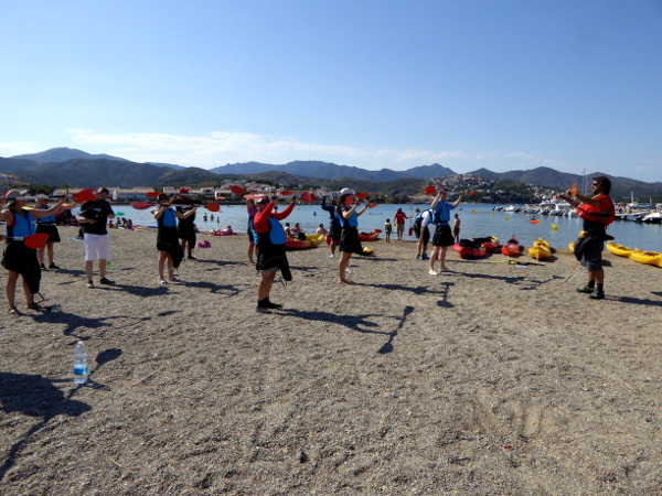 Llança Kajak Freibeuter Reisen strand