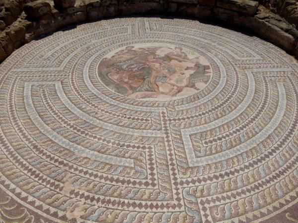 Mosaik Minotaurus Zeus KAto Paphos Zypern