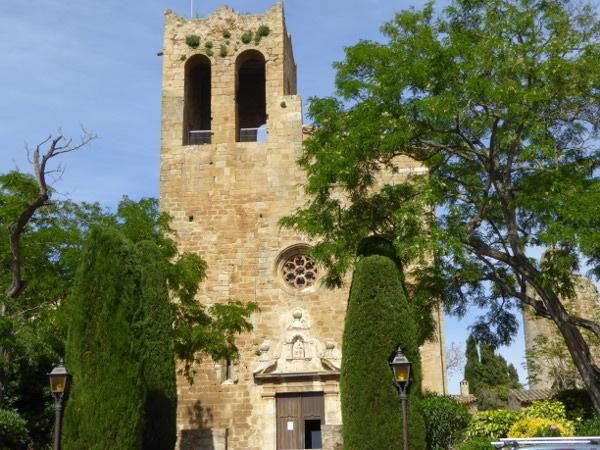 Pals Kirche neuer Kirchturm Costa Brava