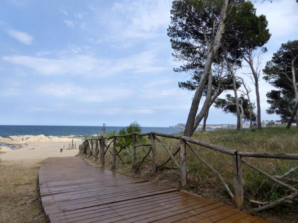 Strand bei Ruines d empuries Costa brava