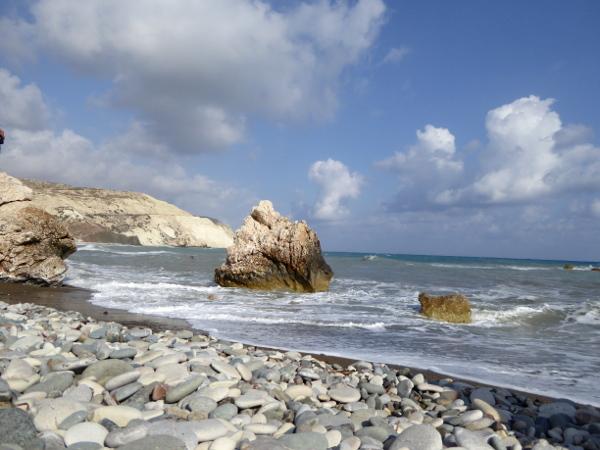 am strand nahe dem Aphroditefelsen Zypern Petra tou Romiou