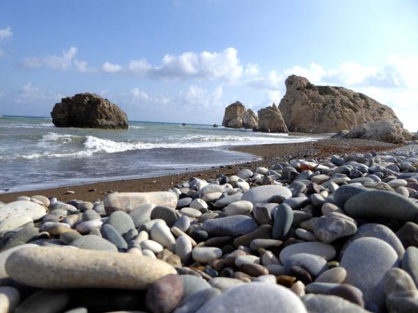 strand Aphroditefelsen Zypern Petra tou Romiou