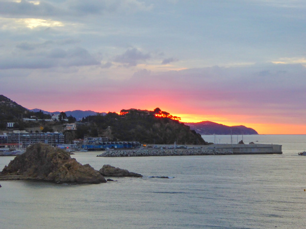 Blanes Hotel horitzo sonnenaufgang