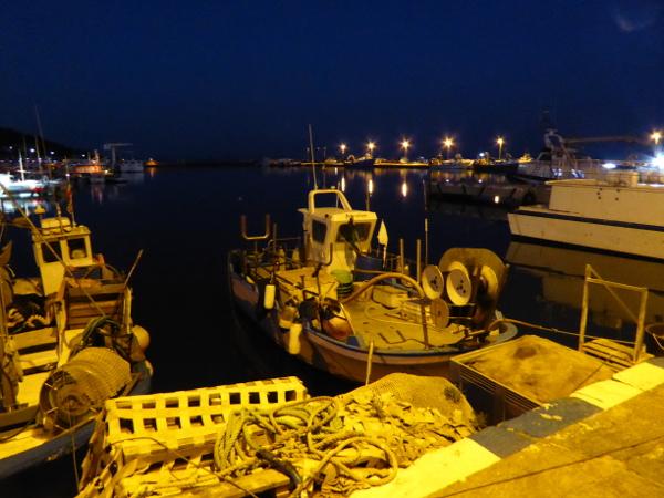 Hafen Roses Fischer Freibeuter reisen Morgens um halb sechs