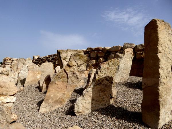 spitze steine schutzmauer Arbeca Iberer Siedlung Freibeuter Reisen