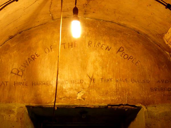 Dublin Kilmainham Gaol beware of the risen people Freibeuter reisen
