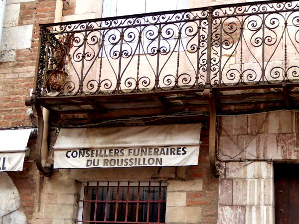 in der Altstadt Perpignan Freibeuter reisen