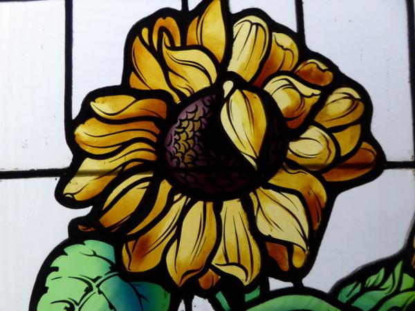 glasfenster sonnenblume Museu del Modernisme Freibeuter reisen