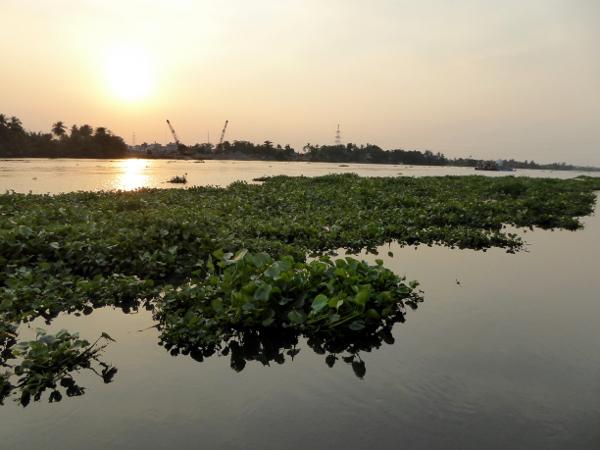 Saigon River an lam hotel sonnenuntergang