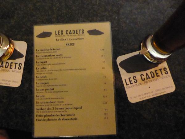 speisekarte gaskognische sprache Le cadet Bordeaux Freibeuter reisen