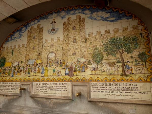 Las ramblas barcelona Porta Ferriça brunnen Freibeuter reisen