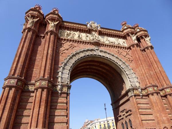arc de triomf Triumpfbogen Barcelona fahrradtour freibeuter reisen