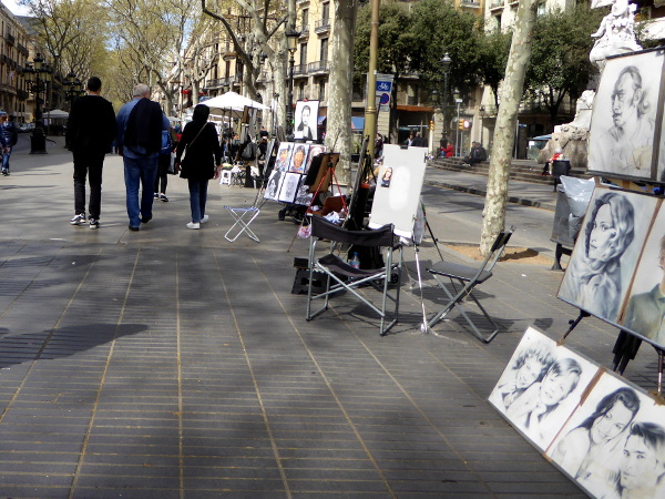 las ramblas maler barcelona freibeuter reisen
