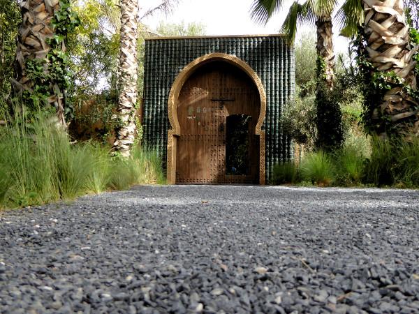 Eingang Anima Garden Retour Paradis Andre heller marrakech freibeuter reisen