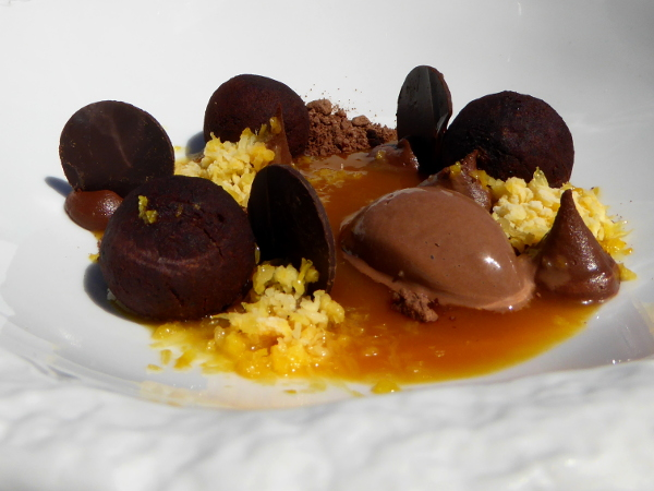 Restaurant Casamar Llafranc Costa Brava Absolut Schoko Dessert Freibeuter reisen