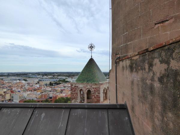 Castelldefels Burg blick vom Dach Freibeuter reisen
