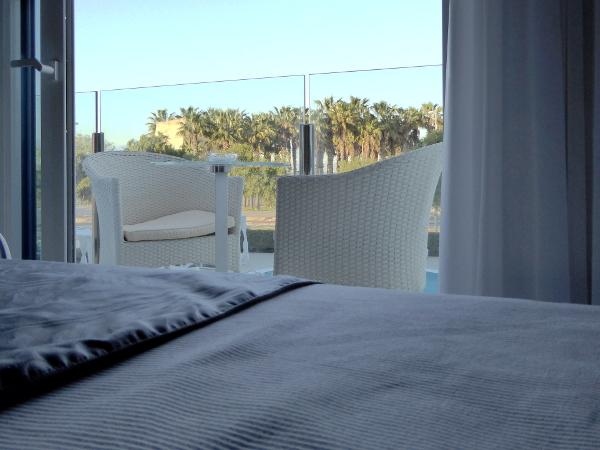Castelldefels Hotel aufwachen blick strand freibeuter reisen
