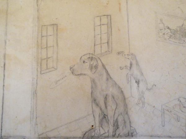 Castelldefels gefaegnis kirche zeichnung hunde brigadisten freibeuter reisen