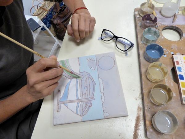 LA BISBAL EMPORDA FREIBEUTER REISEN malen fliesen kacheln workshop ceramica torres
