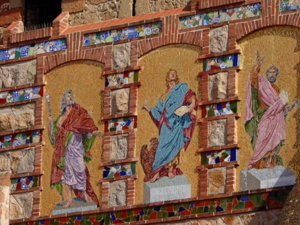 kirche sant romà lloret de mar aussenseite bemalt freibeuter reisen
