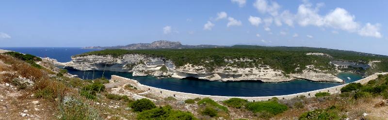 Korsika bonifacio Panorama kreidefelsen freibeuter reisen