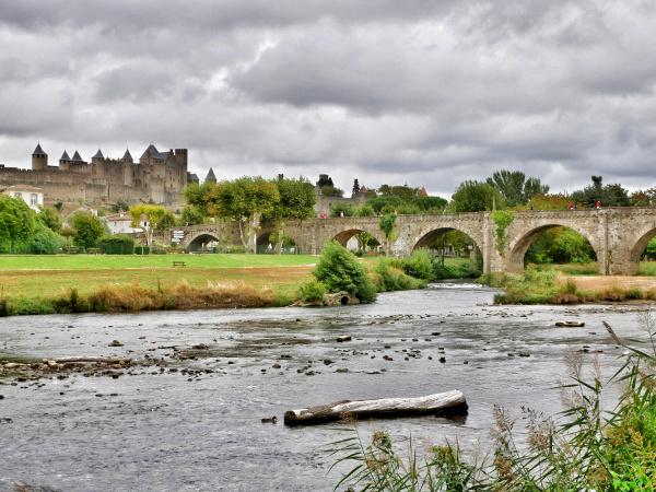 Carcassonne cite und bruecke