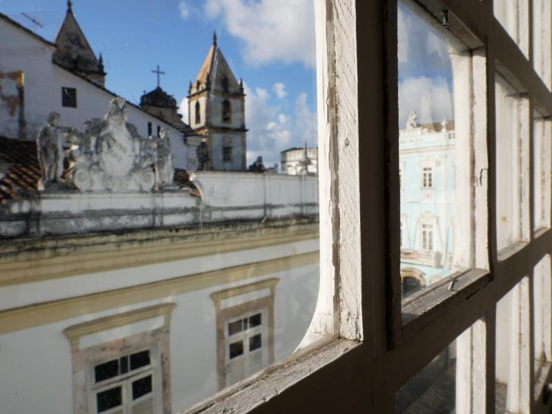Pelourinho Fenster Hotel salvador de bahia freibeuter reisen