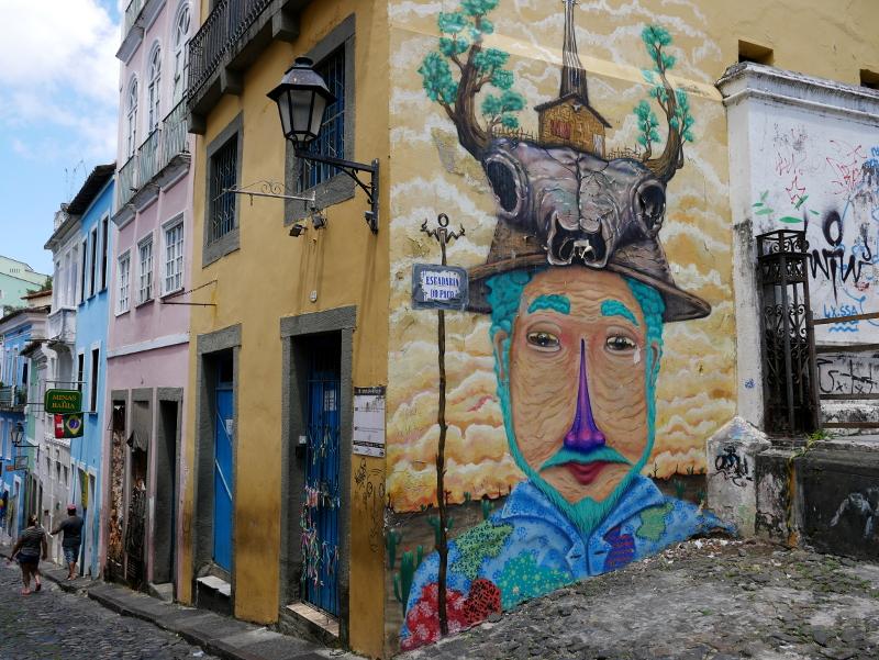 streetart pelourinho salvador de bahia kunst freibeuter reisen