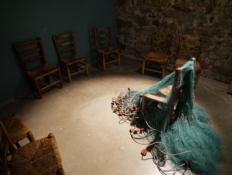 stuhl netz fischer museum palamos