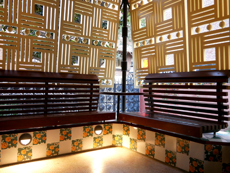 terrasse Casa Vicens Barcelona
