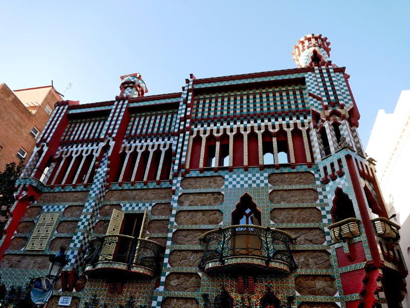 Casa vicens barcelona fassade