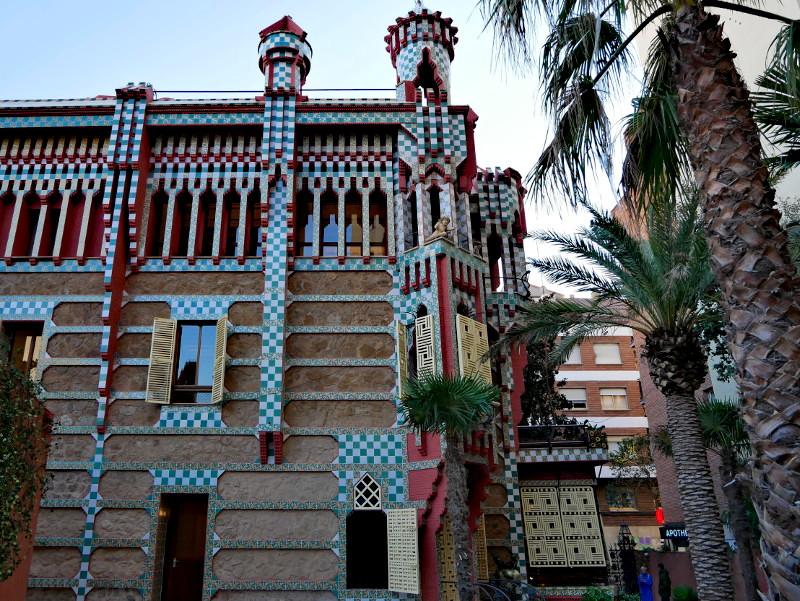 Casa vicens barcelona rueckseite