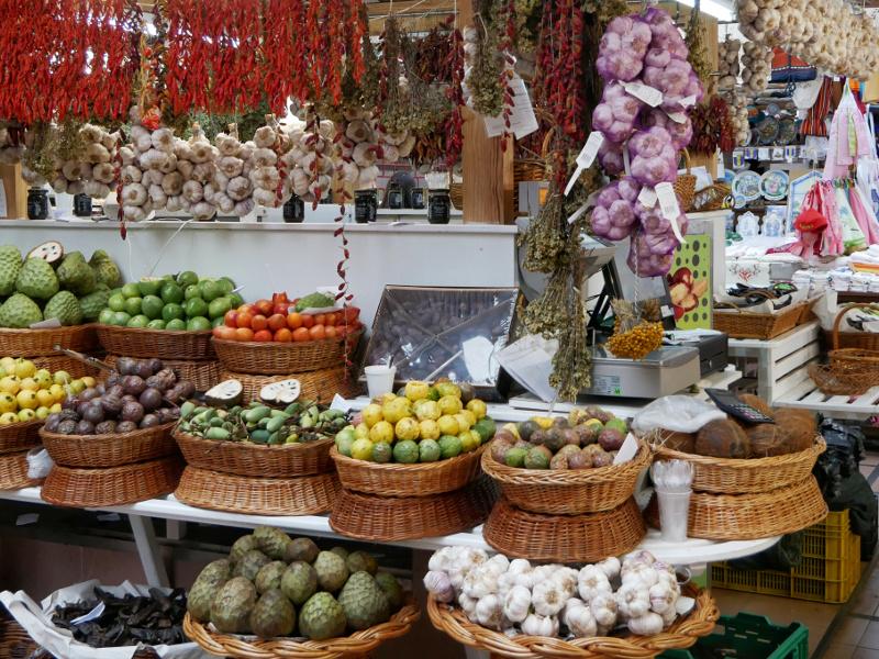 Madeira altstadt funchal markt