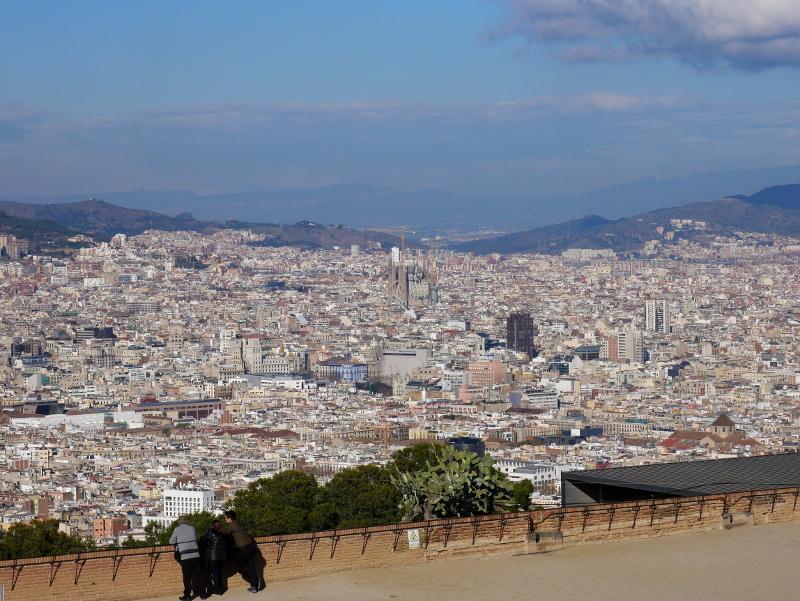 aussicht auf Barcelona vom Castell Montjuic