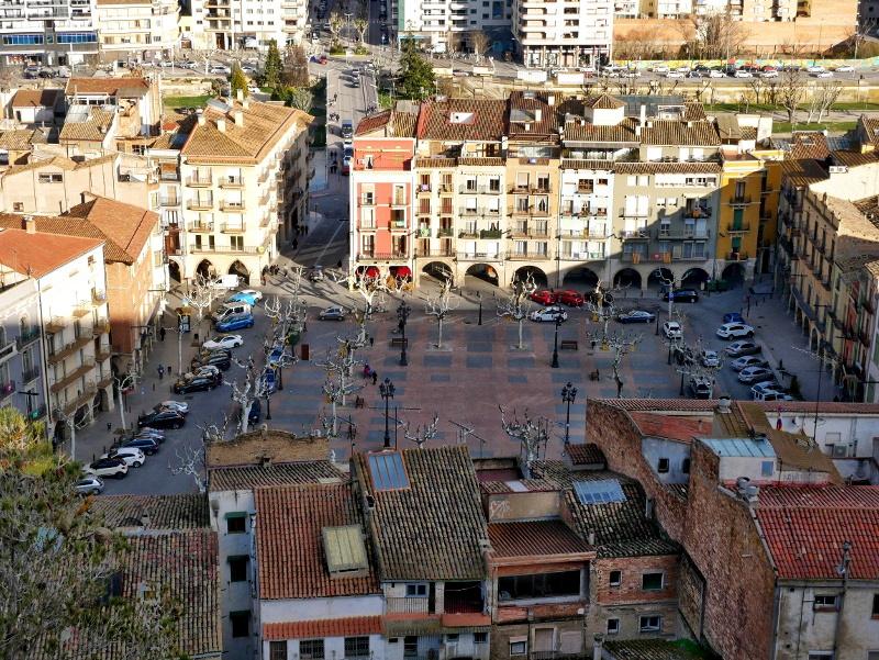 Balaguer Blick von stadtmauer