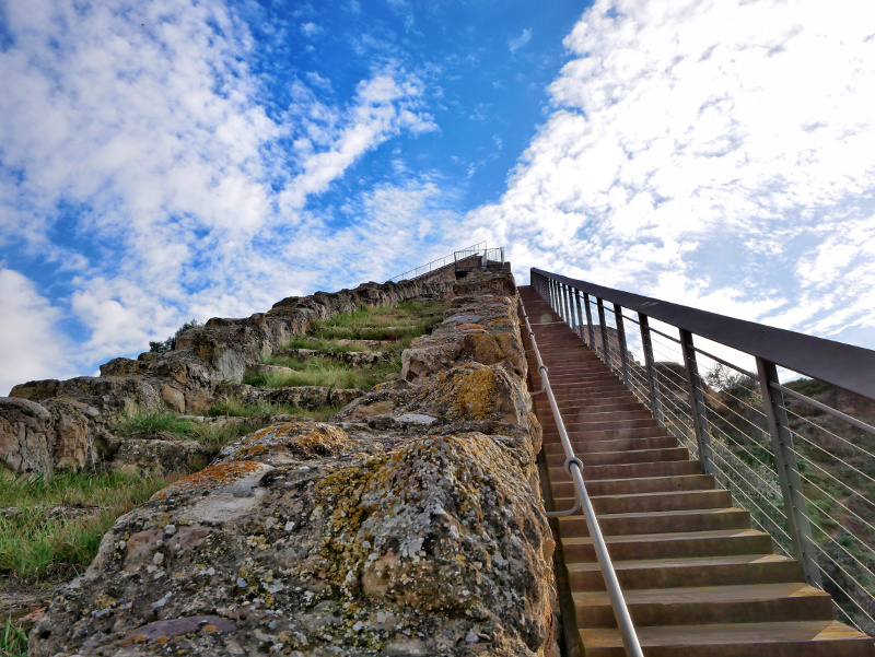 Balaguer Muralla Stadtmauer Treppe